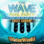 The Wave Pool Party Every Sunday at WaterWorld Ayia Napa Cyprus